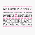 Wonderland for Detailed Planners