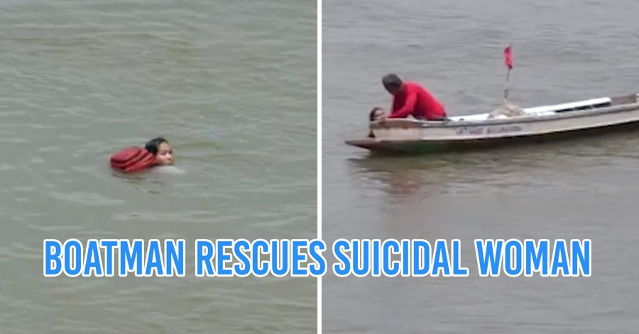 Boatman saves suicidal woman jumps the bridge
