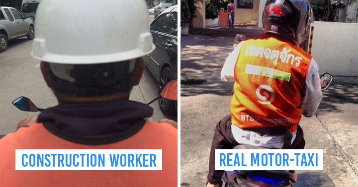 Mistakes Construction Worker For Motor-Taxi Driver