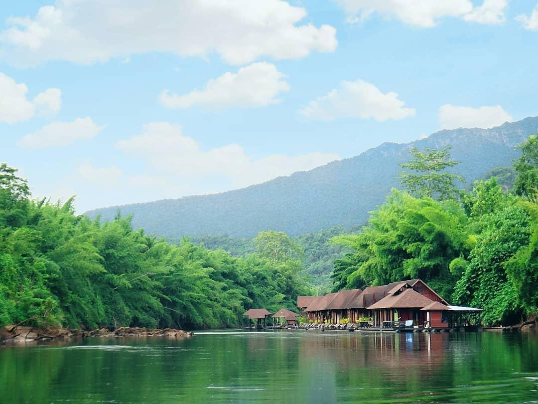 chic floating raft house near bangkok thailand kanchanaburi