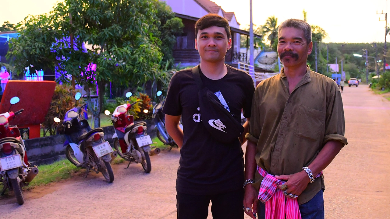 uncle somboon and his son