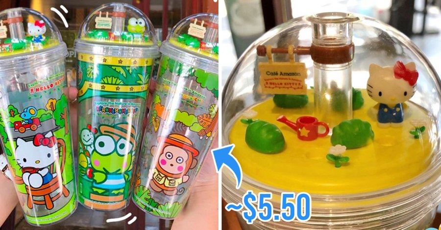 Café Amazon Thailand Launches Sanrio Tumblers With Characters Like Hello Kitty And Keroppi