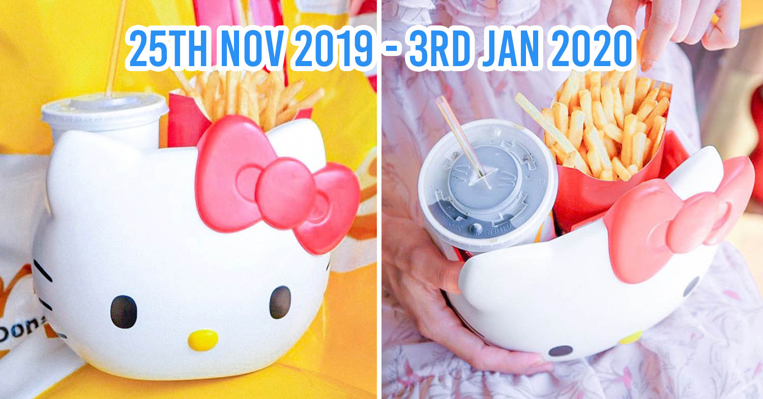 Mcdonald S Thailand Now Has Hello Kitty Carriers You Can Use