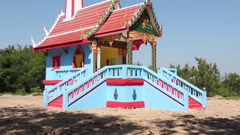 Monk Paints Temple Crematorium In Bright Colours To Make It Look Less Scary And Sad For Funeral Attendees