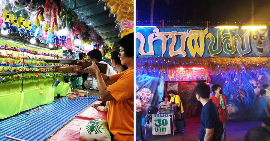 Wat Saket Bangkok Is Having A Festival With Carnival Games And Street Food