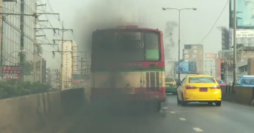 fumes from bus