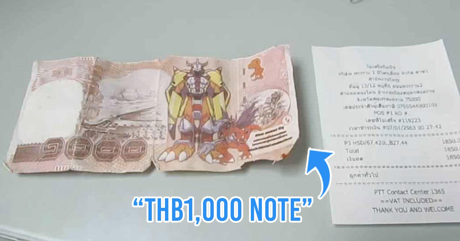 """Scammer Uses """"Digimon Notes"""" For Gas, Staff Ends Up Paying Out Of Their Pockets To Cover Costs"""
