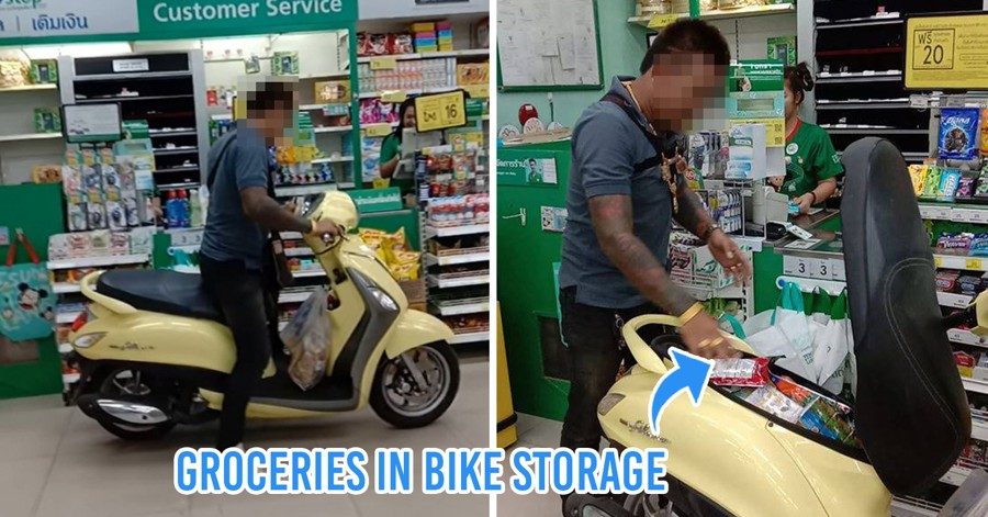 Man Drives Motorcycle Into Convenience Store To Protest Plastic Bag Ban In Thailand