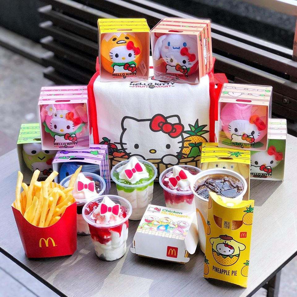 McDonald's Thailand Has A Special Hello Kitty Menu Set And Plush Toys For Sanrio Lovers