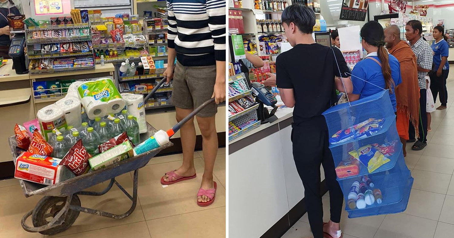 funny shopping bangs in Thailand after plastic bag ban
