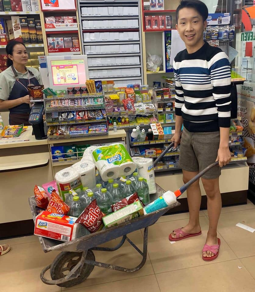 using a cart instead of plastic bag
