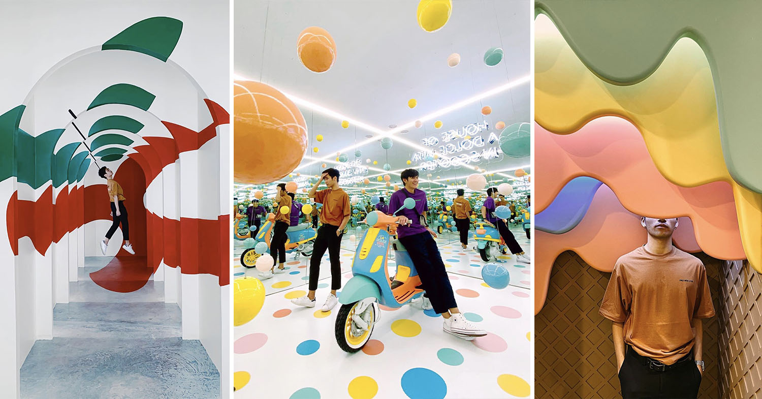 Photogenic Vespa Museum with pastel theme in Bangkok