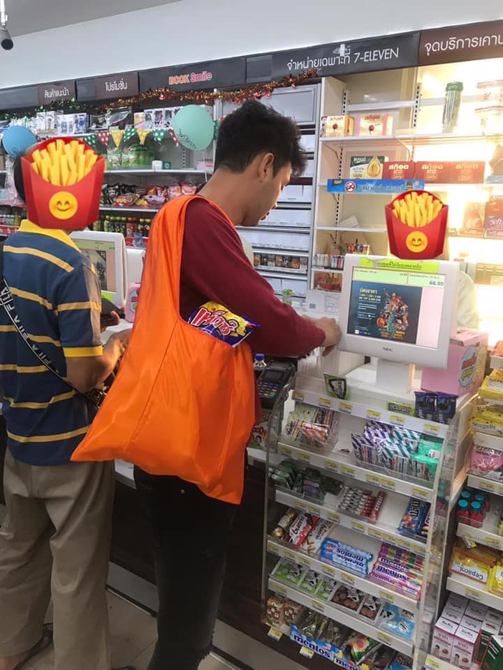 Funny shopping bags in Thailand