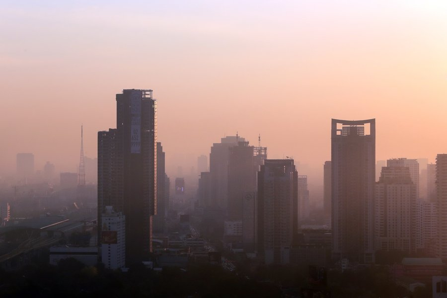 Bangkok's PM2.5 Haze Level Surges Again, 50 Areas Reported Unsafe