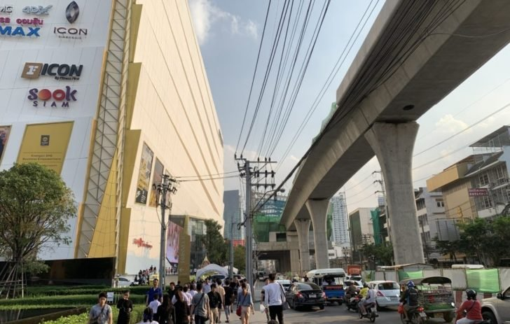 New BTS station in front of ICONSIAM
