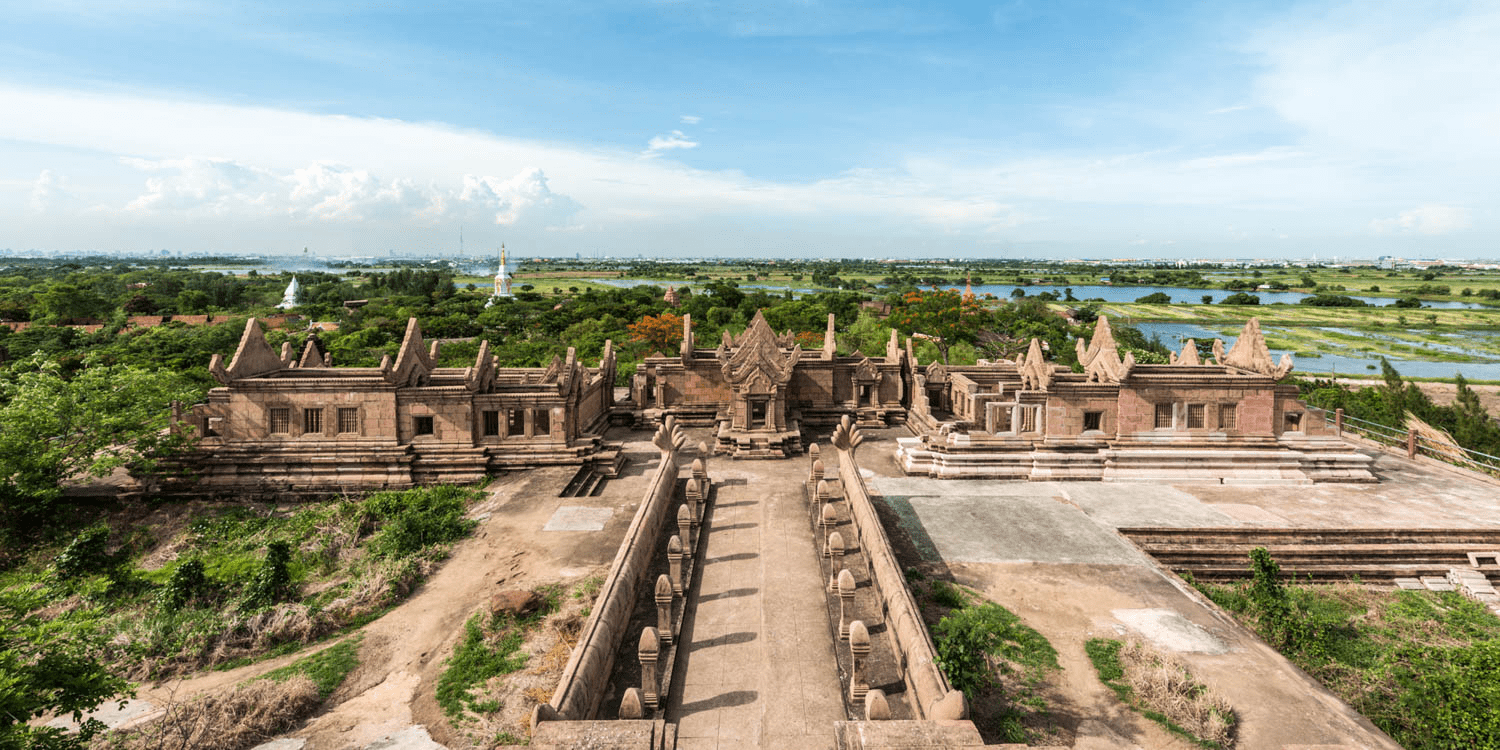 panoramic view at Ancient City Samut Prakan