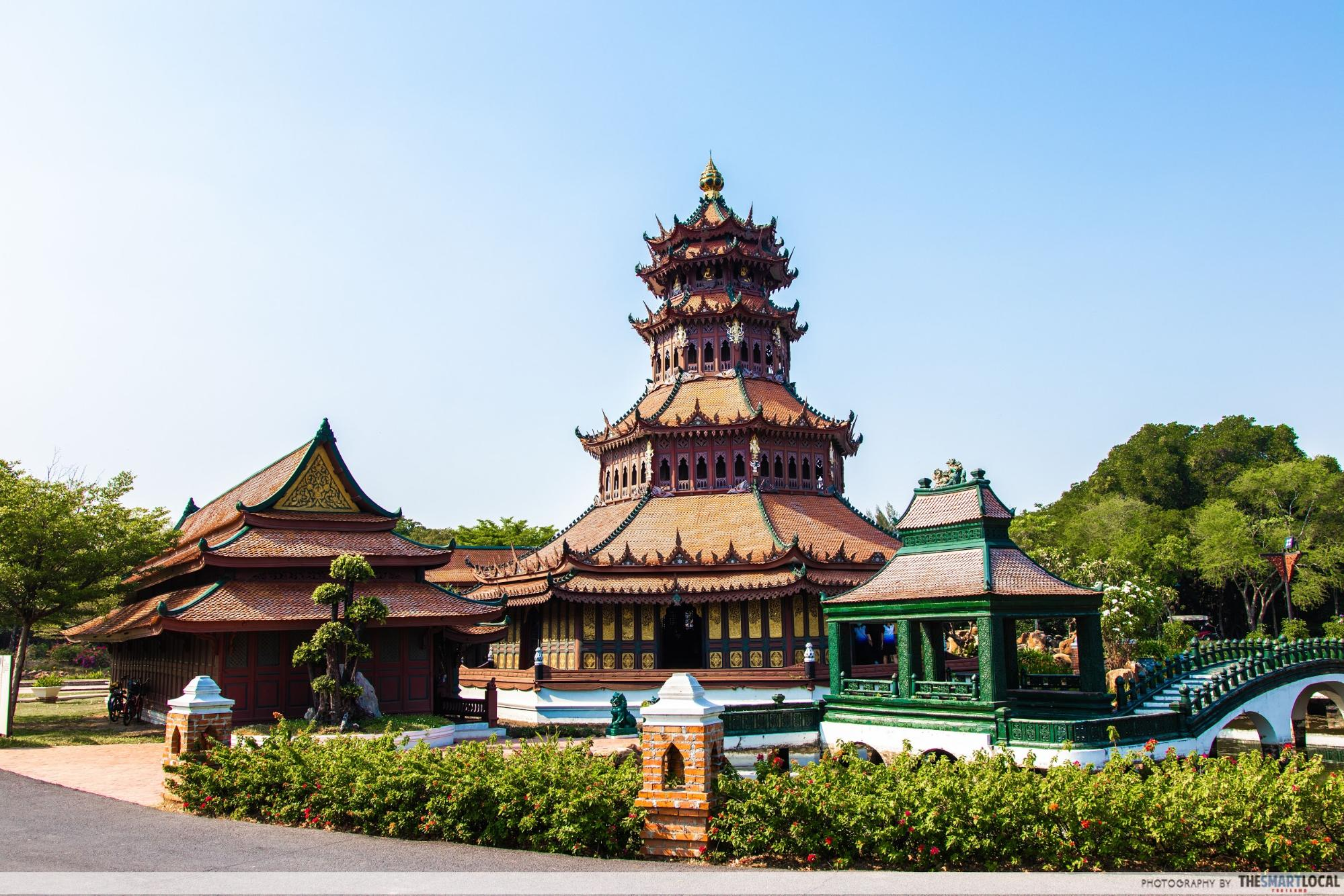 Chinese influenced building in Ancient City Samut Prakan
