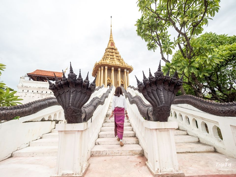 Photogenic Naga stairs at Muang Boran Samut Prakan