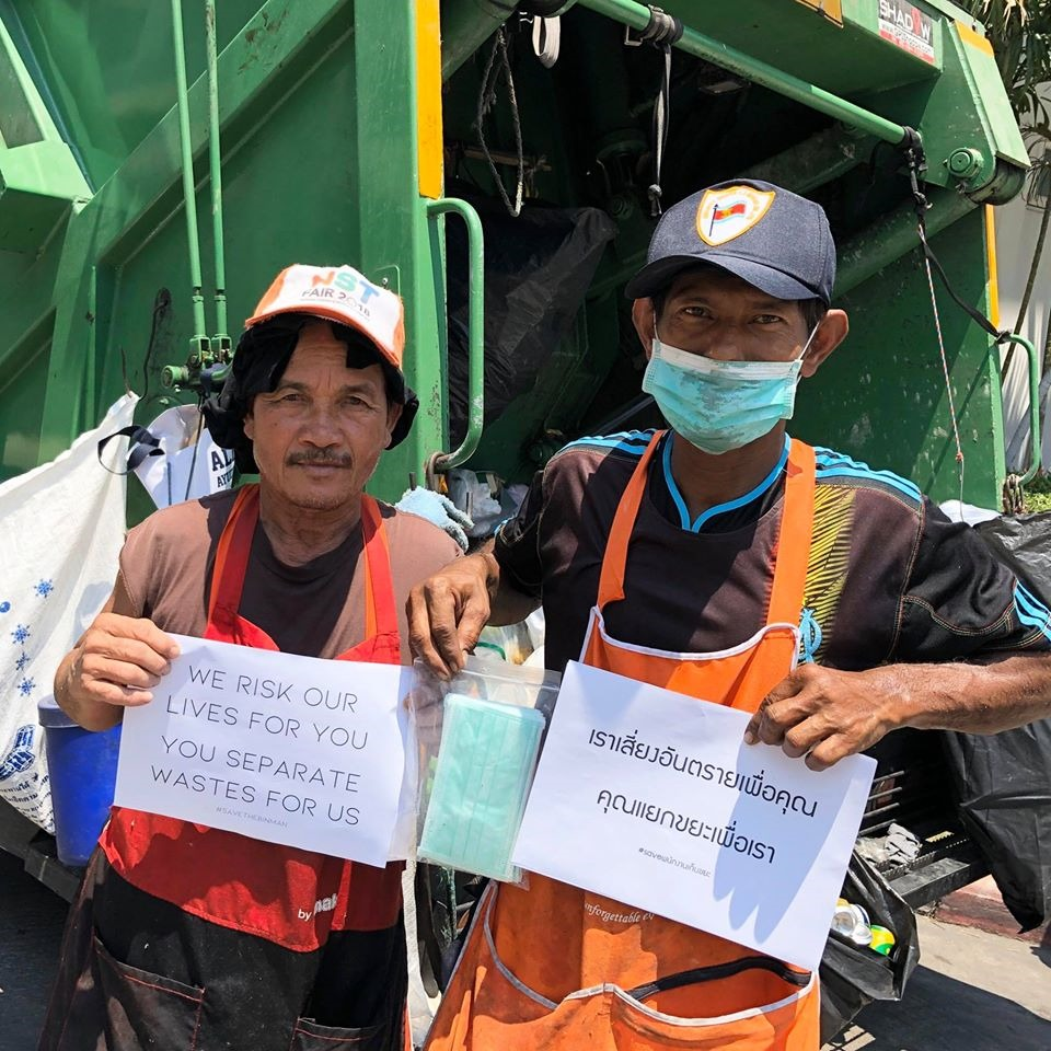 Bangkok Garbage Collectors Urge Citizens To Dispose Face Masks Properly In Viral Photo