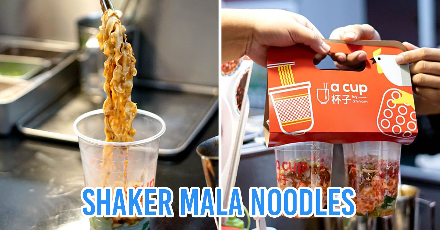 A Cup By Ah Nam Serves Portable Mala Egg Noodles In A Cup At Siam