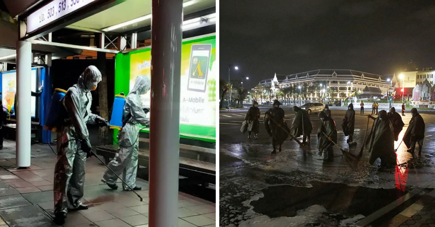 Thai army cleans Bangkok everyday until the end of March