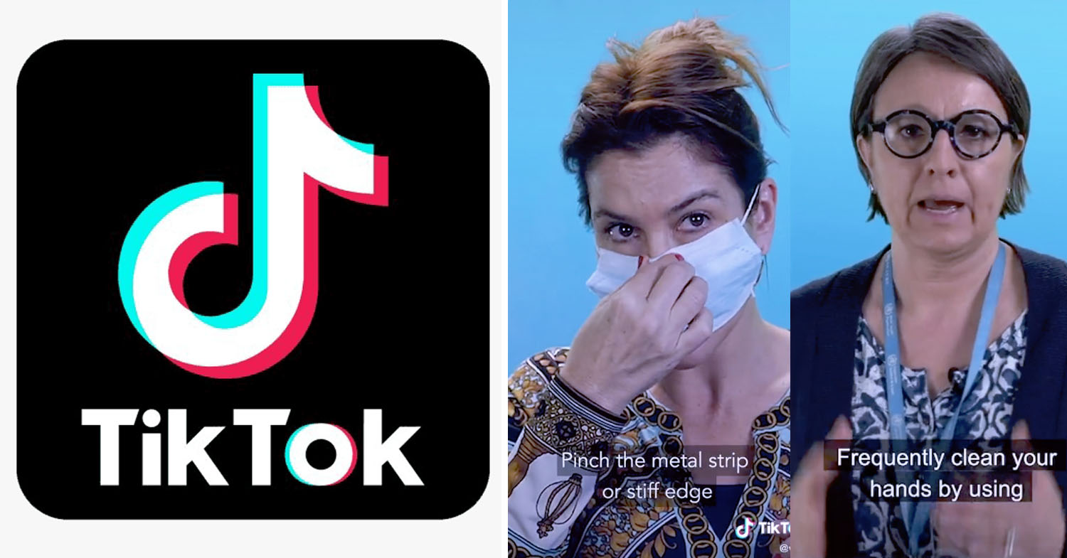 WHO has videos on TikTok about COVID-19