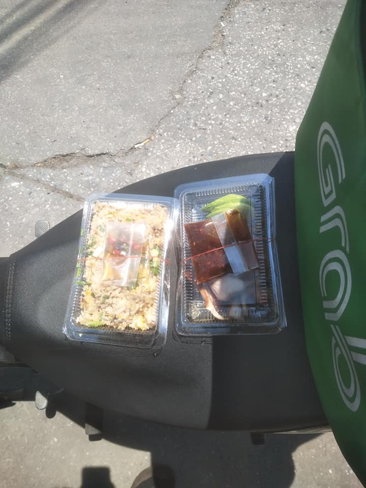 Free food to say thank you to GrabFood driver