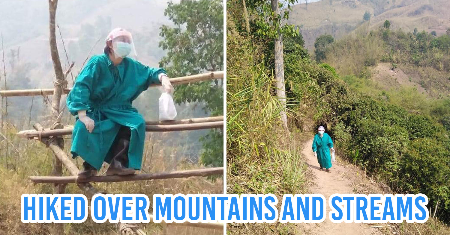 Thai Doctor Hike Up Mountains To Treat Sick Kid Who Is In Quarantine With Family