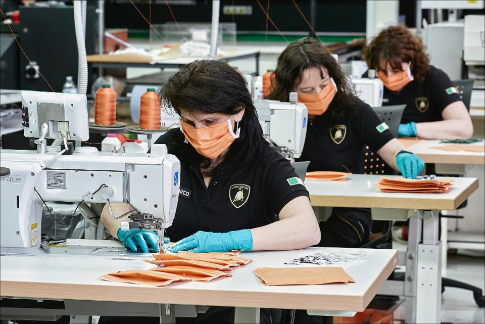 Lamborghini Starts Producing Surgical Masks And Face Shields For Health Workers In Italy