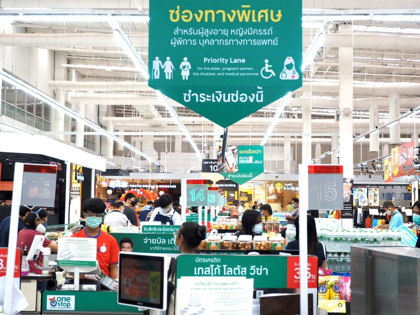 Tesco Thailand Has Priority Lanes For The Elderly & Health Workers To Avoid Panic Buyers