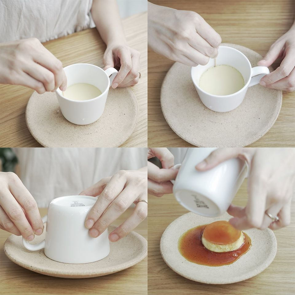 cook caramel custard without oven