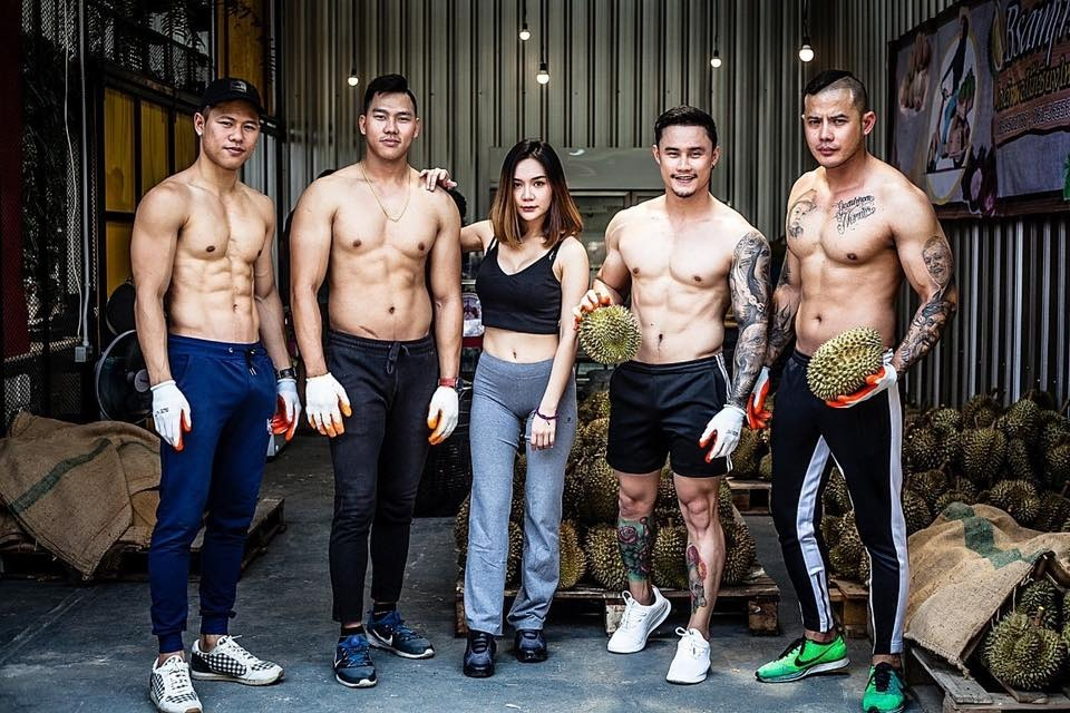 Thai Gym Owners Sell Durians After The Gym Is Temporarily Closed Due To COVID-19