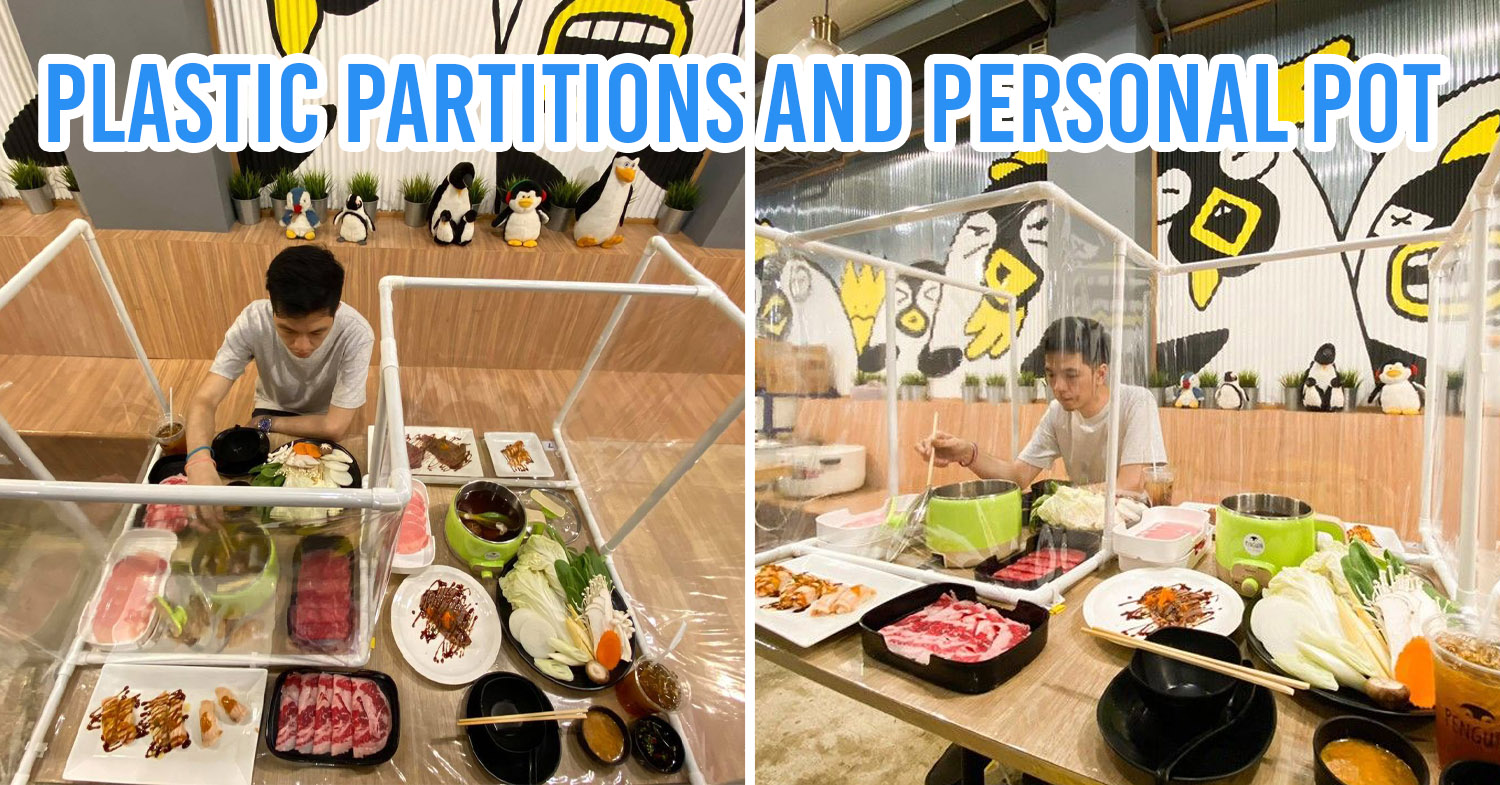 Bangkok Shabu Place Comes Up With Tables For Customers To Eat Together Safely After Closure Ban Lifted