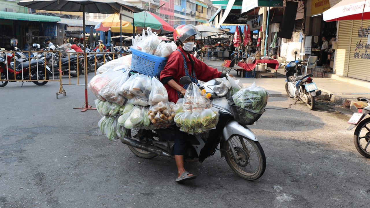 Thailand has mobile grocery shop