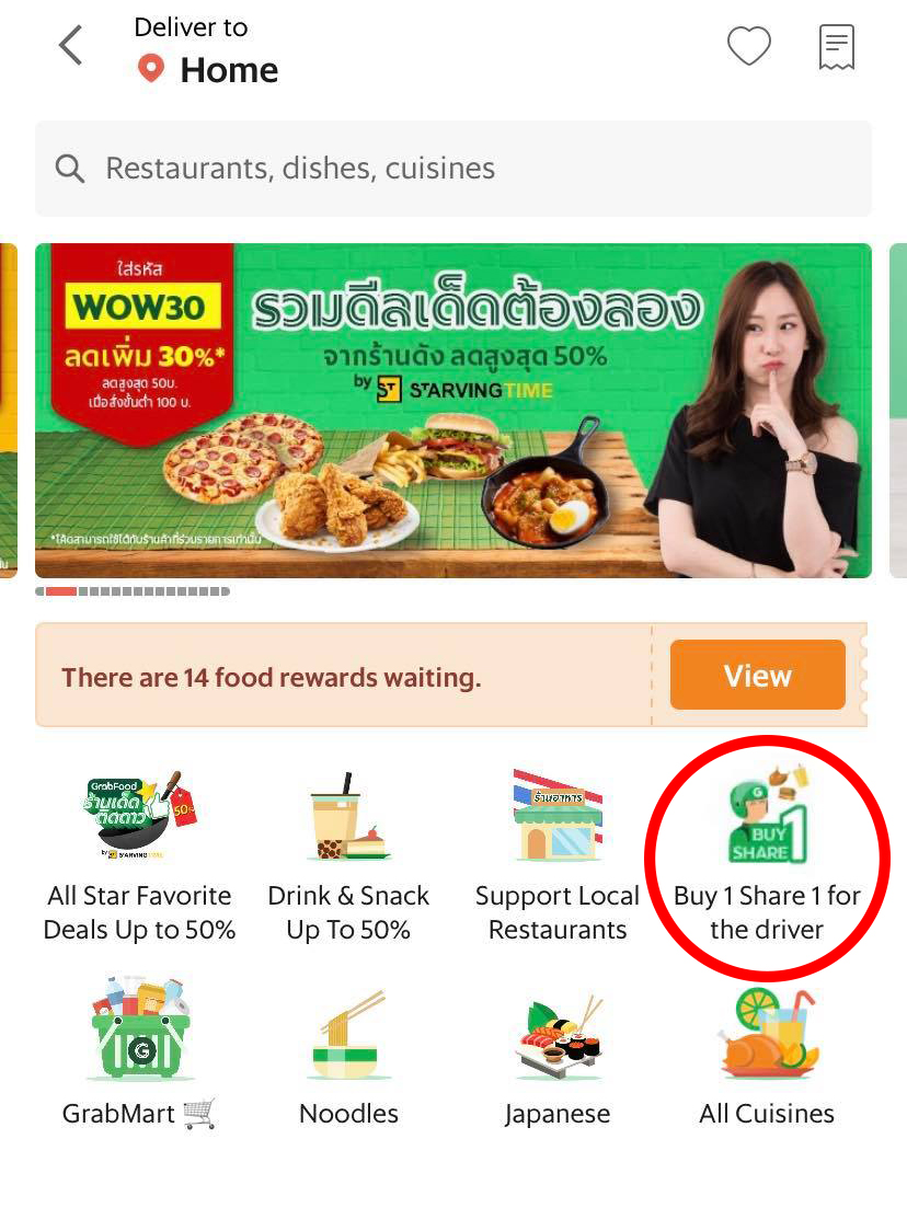 grab food thailand