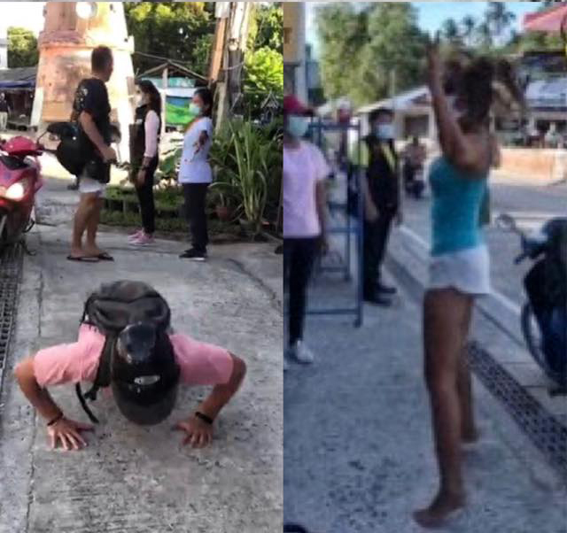 Punish Tourists With Exercise Routine