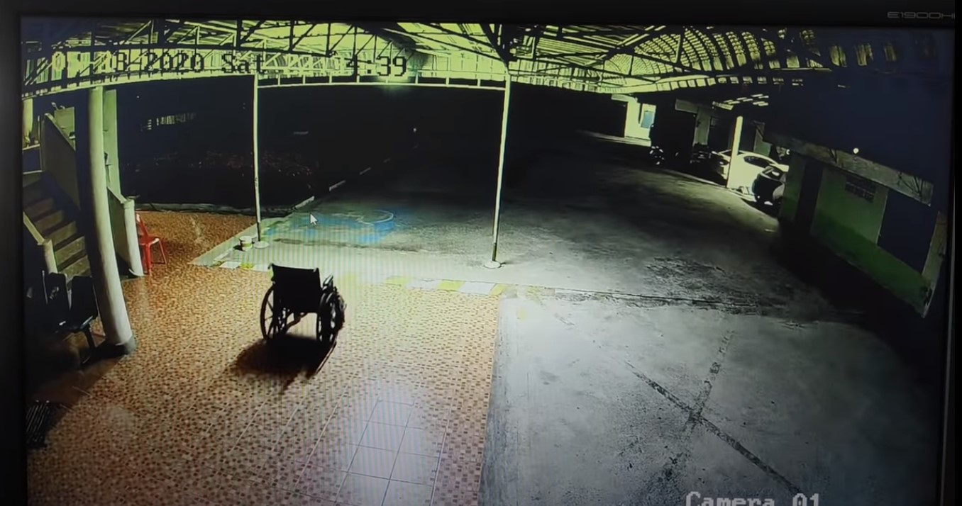 Spooky Wheelchair Moving On Its Own