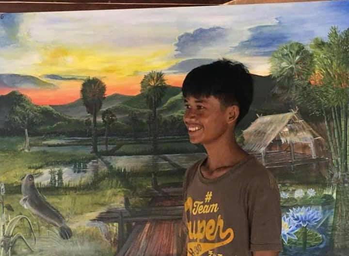 Thai teenager makes money for tuition fees