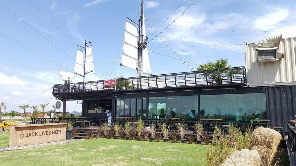 airplane park in korat thailand with a cafe
