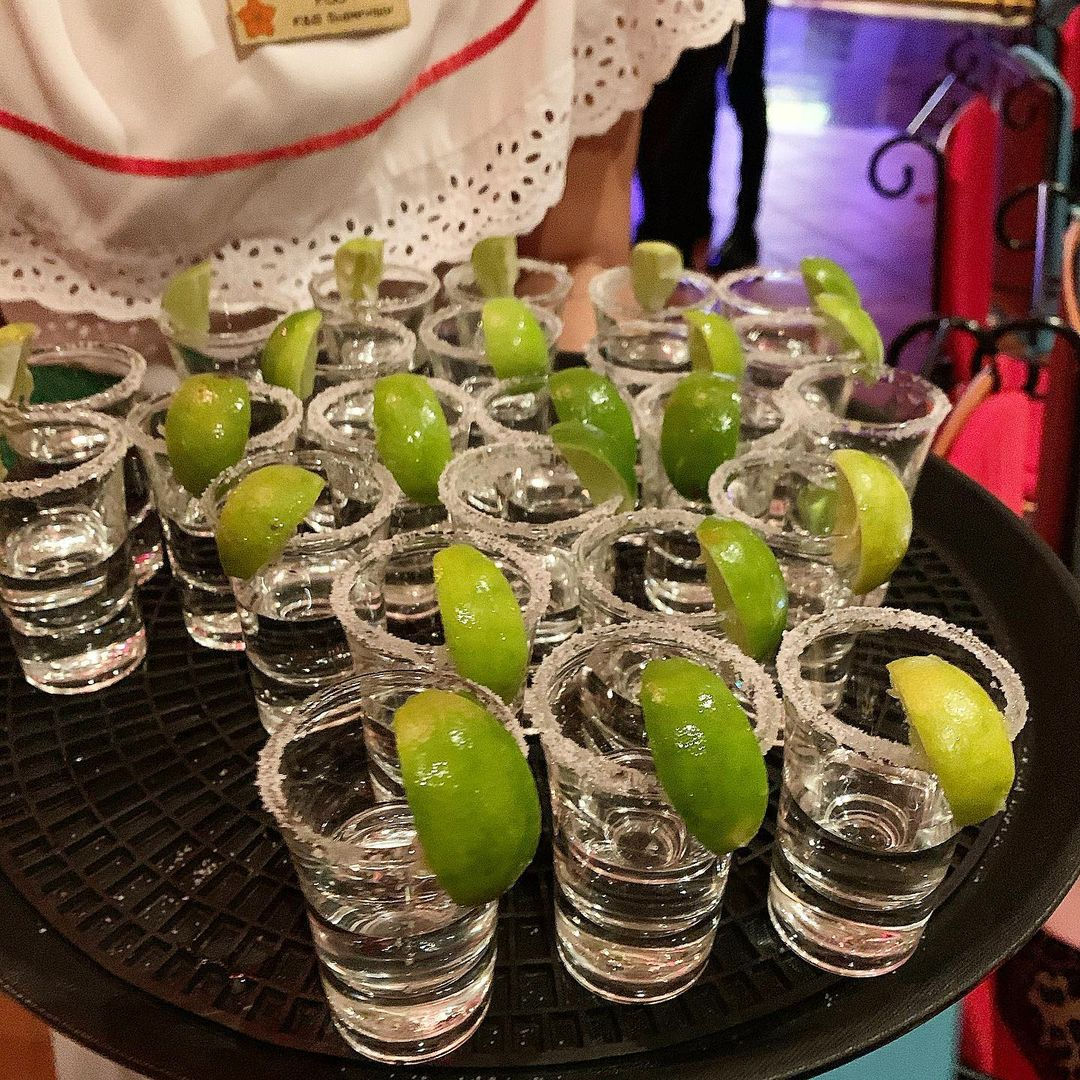 Tequila Shots at Mexicano