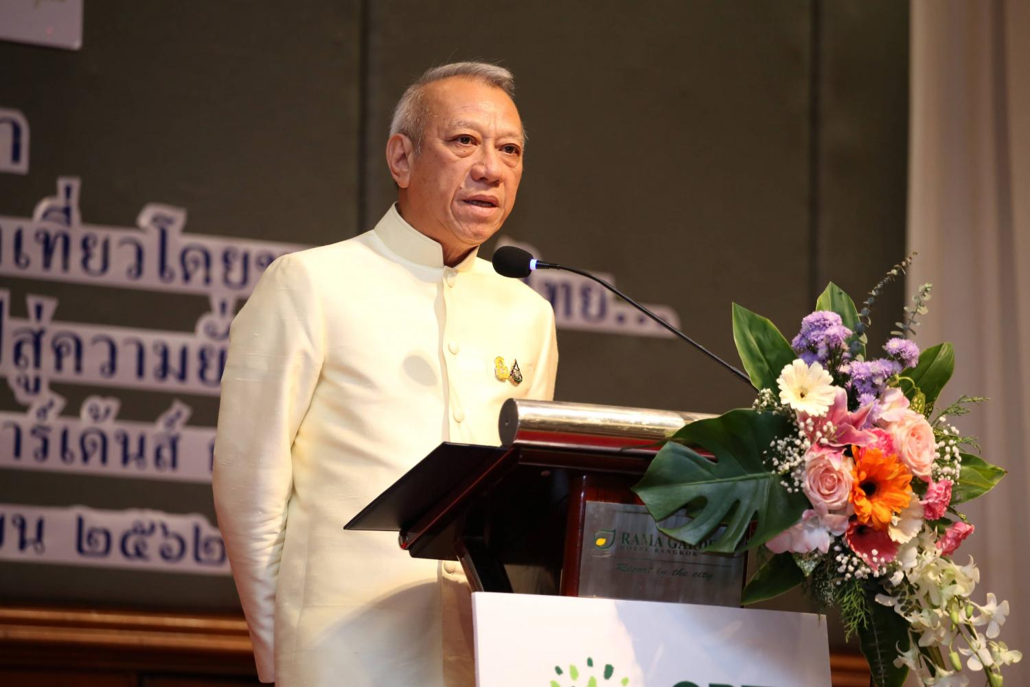 Phiphat Ratchakitprakarn, the Minister of Tourism and Sport