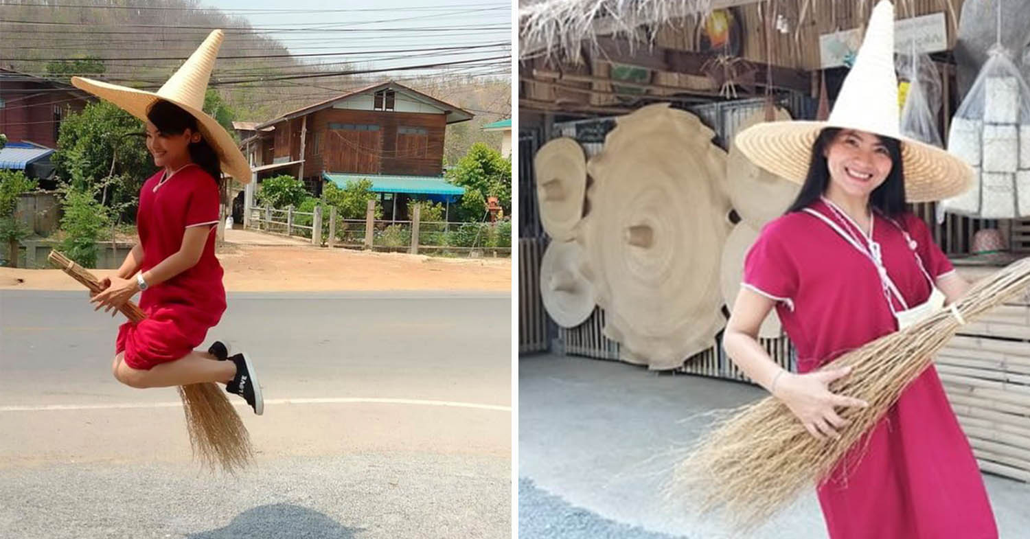 Sukhothai Man Makes Giant 2M-Wide Straw Hats, Perfect For Those Who Seriously Hate Being In The Sun