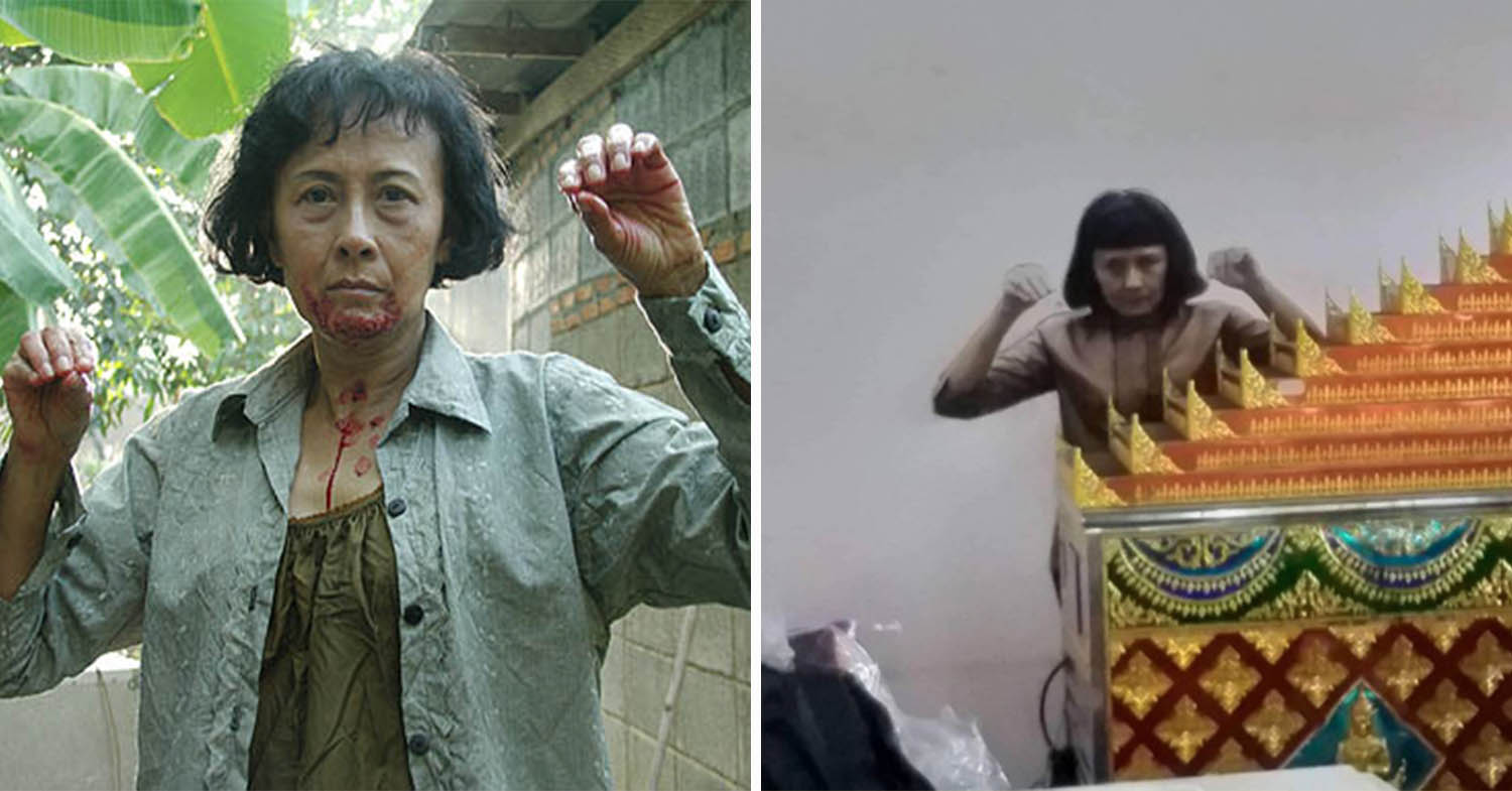 Thai Monk Gets Shocked By Ghost In Temple, Turns Out To Be Statue Prop
