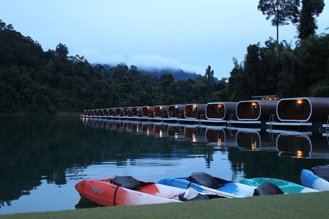 Phutawan Rafthouse: Floating Hotel On Cheow Lan Lake With Personal Decks For A Dreamy Vacation