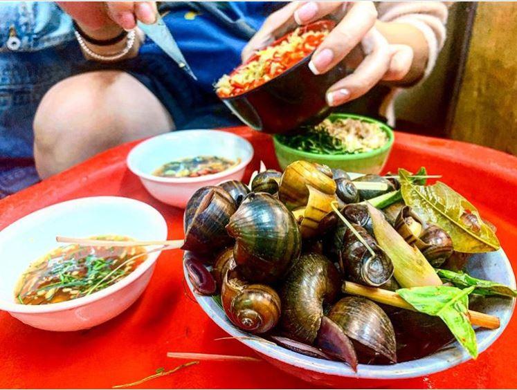 Saigon cooked snail escargot