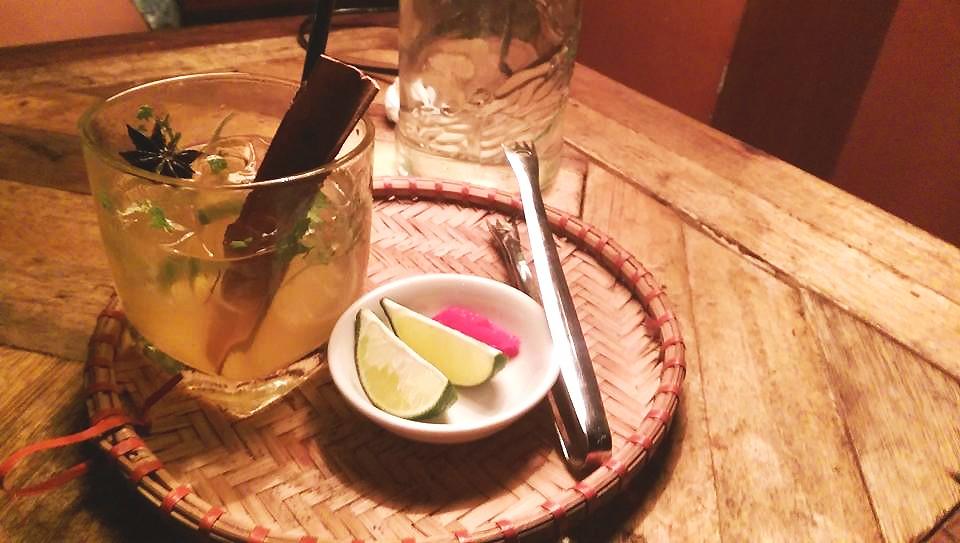 signature pho cocktail at unicorn pub hanoi