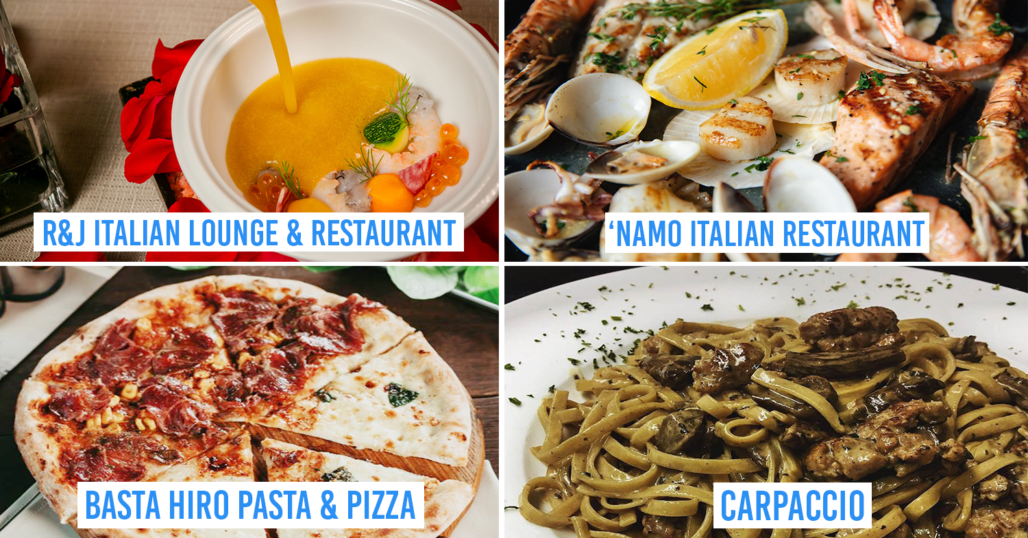 italian dishes from restaurants in saigon