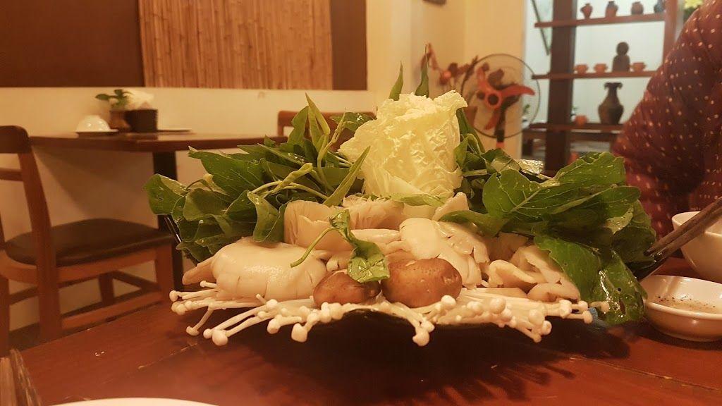 hanoi vegetarian restaurant ahimsa mushroom hotpot
