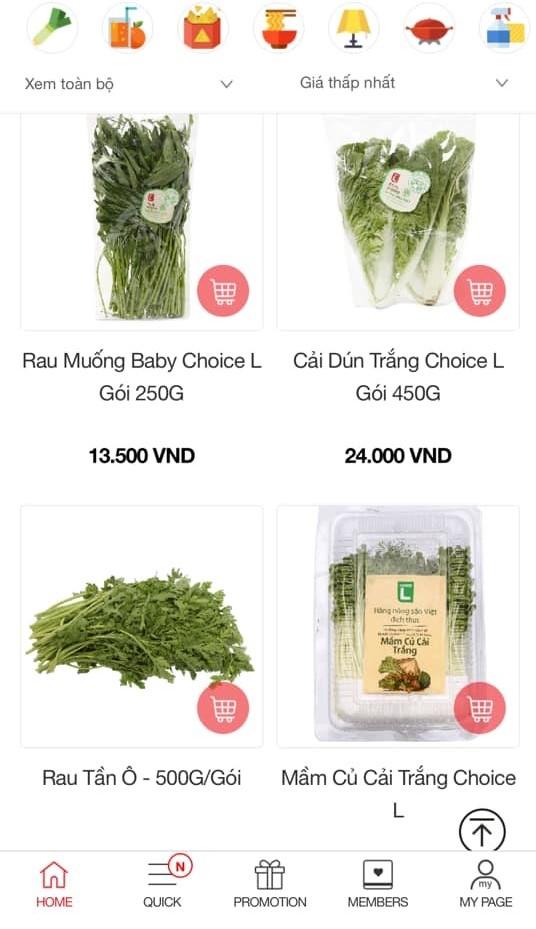 Lotte mart produce