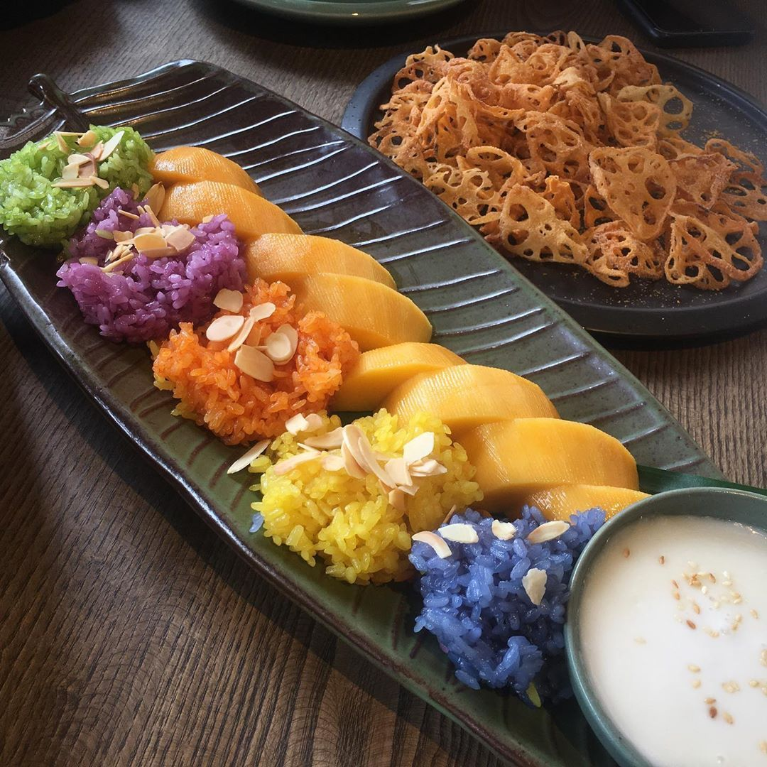 hanoi vegetarian restaurant uu dam chay food mandala sticky rice